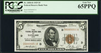 Low Serial Number 51 Fr. 1850-D $5 1929 Federal Reserve Bank Note. PCGS Gem New 65PPQ