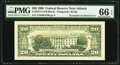 Error Notes:Third Printing on Reverse, Fr. 2077-F $20 1990 Federal Reserve Note. PMG Gem Uncirculated 66 EPQ.. ...