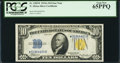Small Size:World War II Emergency Notes, Fr. 2309* $10 1934A North Africa Silver Certificate. PCGS Gem New65PPQ.. ...