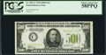 Fr. 2201-C $500 1934 Light Green Seal Federal Reserve Note. PCGS Choice About New 58PPQ