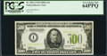 Small Size:Federal Reserve Notes, Fr. 2201-I $500 1934 Light Green Seal Federal Reserve Note. PCGS Very Choice New 64PPQ.. ...