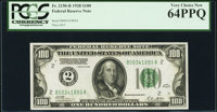 Fr. 2150-B $100 1928 Federal Reserve Note. PCGS Very Choice New 64PPQ