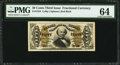 Fractional Currency:Third Issue, Fr. 1324 50¢ Third Issue Spinner PMG Choice Uncirculated 64.. ...
