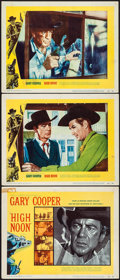 """Movie Posters:Western, High Noon (United Artists, 1952). Title Lobby Card & LobbyCards (2) (11"""" X 14""""). Western.. ... (Total: 3 Items)"""