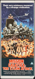 "Movie Posters:Science Fiction, Mission Galactica: The Cylon Attack (Universal, 1979). AustralianDaybill (13.25"" X 29.75""). Science Fiction.. ..."