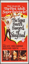 """Movie Posters:Sexploitation, The Long Swift Sword of Siegfried & Other Lot (Filmways, 1971). Australian Daybill (13.25"""" X 30"""") & British One Sheet (27"""" X... (Total: 2 Items)"""