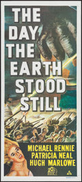 "Movie Posters:Science Fiction, The Day the Earth Stood Still (20th Century Fox, R-1972).Australian Daybill (13.25"" X 30""). Science Fiction.. ..."