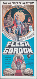 "Movie Posters:Sexploitation, Flesh Gordon (Filmways, 1975). Australian Daybill (13.25"" X 28"").Sexploitation.. ..."