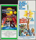 """Movie Posters:Fantasy, The Magic Sword & Other Lot (United Artists, 1962). AustralianDaybills (2) (13.5"""" X 30"""" & 13"""" X 26.75""""). Fantasy.. ...(Total: 2 Items)"""