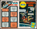 """Movie Posters:Science Fiction, 2001: A Space Odyssey (Howard Johnson's, 1968). Unused Children'sMenu (8 Pages, 7"""" X 11"""") Cinerama Style. Science Fiction...."""