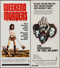 "Movie Posters:Foreign, Weekend Murders & Others Lot (MGM, 1972). Australian Daybills (2) (13.25"" X 30"") & Australian One Sheet (27"" x 40""). Foreign... (Total: 3 Items)"