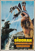 "Movie Posters:Science Fiction, Ghidrah, the Three-Headed Monster (Fonofilm, 1964). Turkish OneSheet (27"" X 39""). Science Fiction.. ..."