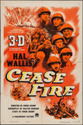 "Movie Posters:War, Cease Fire! (Paramount, 1953). One Sheet (27"" X 41""). 3-D Style.War.. ..."