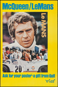 """Le Mans (Cine Center, 1971). Gulf Promotional Display Poster (28"""" X 42""""). Sports"""