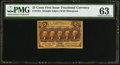 Fractional Currency:First Issue, Fr. 1281 25¢ First Issue PMG Choice Uncirculated 63.. ...