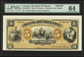 Canadian Currency, Ottawa, ON- The Bank of Ottawa $5 November 2, 1880 Ch. #565-12-02FP Face Proof.. ...