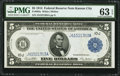 Fr. 883a $5 1914 Federal Reserve Note PMG Choice Uncirculated 63 EPQ