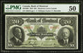 Canadian Currency: , Montreal, PQ- The Bank of Montreal $20 Jan. 2, 1923 Ch. #505-56-06.. ...