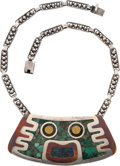 Silver Smalls, An Enrique Ledesma Mexican Silver, Mixed Metals and HardstoneNecklace, Taxco, circa 1955-1979. Marks: LEDESMA, TAXCO,HEC...