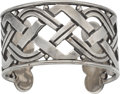 Silver Smalls, A Hector Aguilar Mexican Silver Cuff, Taxco, circa 1940-1945.Marks: HA (conjoined), TAXCO, 940. 1-3/4 inches highx...