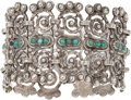 Silver Smalls, A Matilde Poulat Mexican Silver and Turquoise Bracelet, MexicoCity, circa 1934-1948. Marks: MATL. 7-1/4 inches long (18...