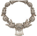 Silver & Vertu:Smalls & Jewelry, A Ricardo Salas Mexican Silver and Turquoise Necklace, Mexico City, circa 1965-1975. Marks: Matl, M.REGIS, 14-2093, MEXICO...