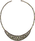 Silver Smalls, A Margot de Taxco Mexican Enameled Silver Necklace, Taxco, circa1955-1978. Marks: MARGOT DE TAXCO, STERLING, MADE IN MEXI...