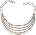 Silver Smalls, A Frank Patania Sr. Modernist Silver Necklace, Santa Fe, NewMexico, circa 1950. Marks: FP (conjoined), STERLING,(t...