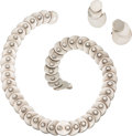 Silver & Vertu:Smalls & Jewelry, A Hector Aguilar Mexican Silver Necklace and Earring Jewelry Suite, Taxco, circa 1948-1962). Marks: HA (conjoined), .9... (Total: 3 Items)