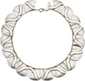 Silver Smalls, A Hector Aguilar Mexican Silver Necklace, Taxco, circa 1940-1945.Marks: HA (conjoined), STERLING, MADE IN MEXICO. 1...