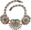 Silver & Vertu:Smalls & Jewelry, A Matilde Poulat and Ricardo Salas Mexican Silver and Hardstone Necklace, Mexico City, post-1980,. Marks: Matl, R.REG, 142...