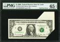 Error Notes:Foldovers, Fr. 1934-H $1 2009 Federal Reserve Note. PMG Gem Uncirculated 65EPQ.. ...