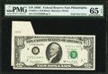 Error Notes:Foldovers, Fr. 2021-C $10 1969C Federal Reserve Note. PMG Gem Uncirculated 65EPQ.. ...