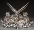 Silver Holloware, Continental, A Buccellati Silver Tureen with Double Pheasant Dome, Milan, Italy,20th century. Marks: BUCCELLATI - ITALY, 800. 16 h x...
