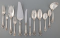 Silver Flatware, American, A Eighty-Nine Piece Wallace Grand Baroque Pattern SilverFlatware Service for Twelve, Wallingford, Connecticut,... (Total:89 Items)