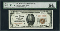 Fr. 1870-J $20 1929 Federal Reserve Bank Note. PMG Choice Uncirculated 64 EPQ