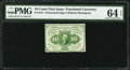 Fractional Currency:First Issue, Fr. 1241 10¢ First Issue PMG Choice Uncirculated 64 EPQ.. ...