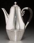 Silver Holloware, Continental:Holloware, A Georg Jensen Silver Cosmos Coffee Pot, designed by JohanRhode, Copenhagen, circa 1925-1932. Marks: (crown...