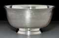 Silver Holloware, American:Bowls, An Old Newbury Crafters Silver Revere Bowl, 20th century. Marks:O.N.C., STERLING, 811, P. REVERE, BOSTON 1768, SONS OF LI...