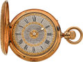Timepieces:Pocket (post 1900), Nicole & Capt London 18k Gold Patent Keyless Lever For TheSouth American Market, circa 1850. ...