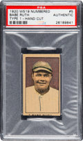 Baseball Cards:Singles (Pre-1930), 1920 W519-1 Decalco Litho Co. Babe Ruth (Numbered) #5 PSA Authentic. ...