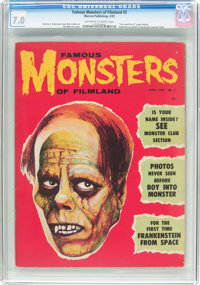 Famous Monsters of Filmland #3 (Warren, 1959) CGC FN/VF 7.0 Off-white to white pages