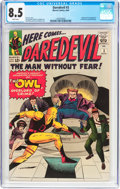 Silver Age (1956-1969):Superhero, Daredevil #3 (Marvel, 1964) CGC VF+ 8.5 White pages....