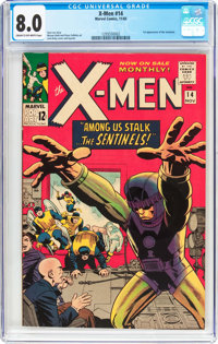 X-Men #14 (Marvel, 1965) CGC VF 8.0 Cream to off-white pages