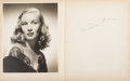 Movie/TV Memorabilia:Autographs and Signed Items, An Oversized Autograph Book Signed by Clark Gable, Cary Grant,Veronica Lake and Others, Circa 1940s-1950s....