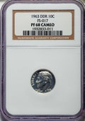 Proof Roosevelt Dimes, 1963 10C Doubled Die Reverse, FS-801 PR68 Cameo NGC. (FS-017). NGCCensus: (18/8). PCGS Population: (12/0)....