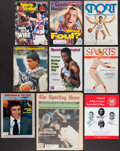 Basketball Collectibles:Publications, Basketball Greats Signed Vintage Magazines Lot of 9. ...