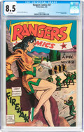 Golden Age (1938-1955):Adventure, Rangers Comics #22 (Fiction House, 1945) CGC VF+ 8.5 White pages....