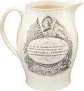 Antiques:Decorative Americana, Washington, Warren and Montgomery: Patriotic Liverpool Pitcher....