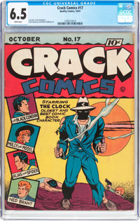 Crack Comics #17 (Quality, 1941) CGC FN+ 6.5 White pages